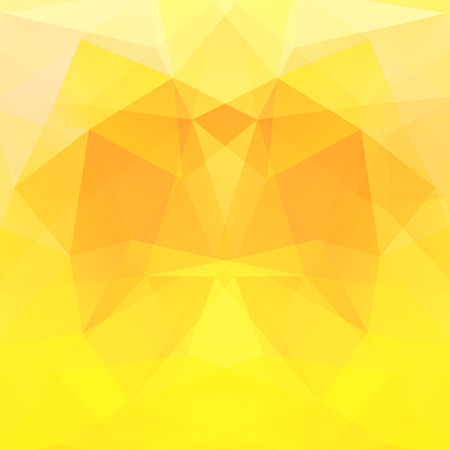 square composition: Background made of triangles. Square composition with geometric shapes. Eps 10 Yellow, orange colors.