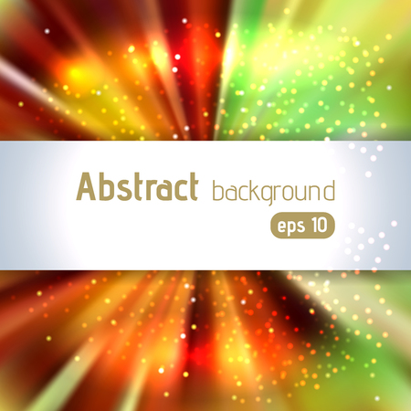 light brown: Background with colorful light rays. Abstract background. Vector illustration. Brown, yellow, green colors.