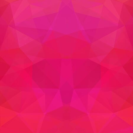 deep pink: Polygonal vector background. Can be used in cover design, book design, website background. Vector illustration. Pink color. Illustration