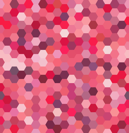 square composition: Background made of hexagons. Seamless background. Square composition with geometric shapes. Pink, white colors.