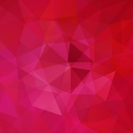 deep pink: Background of geometric shapes. Pink mosaic pattern. Vector EPS 10. Vector illustration Illustration