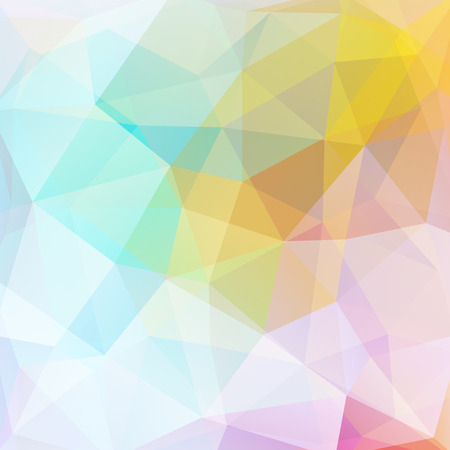 Geometric pattern, polygon triangles vector background in pink, yellow, white, blue tones. Illustration pattern