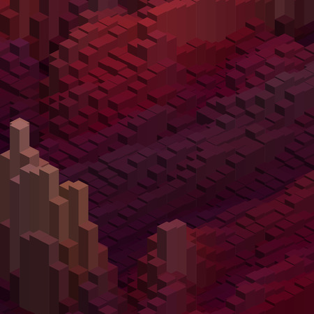 cubicle: Abstract background with cube decoration. Vector illustration. Purple, brown, red colors. Illustration