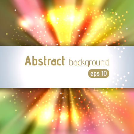 blinding: Background with colorful light rays. Abstract background. Vector illustration. Yellow, orange, red, green, brown colors.