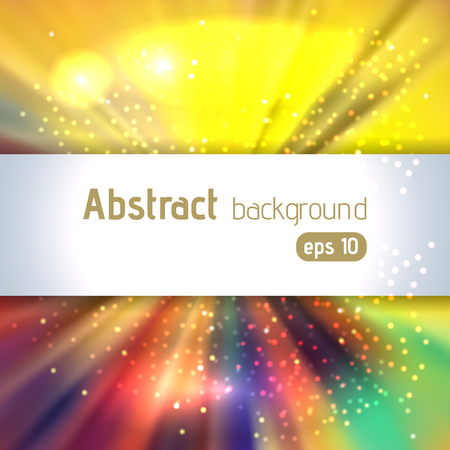 original sparkle: Abstract artistic background with place for text. Color rays of light. Original sparkle design. Yellow, red, blue, green colors. Illustration