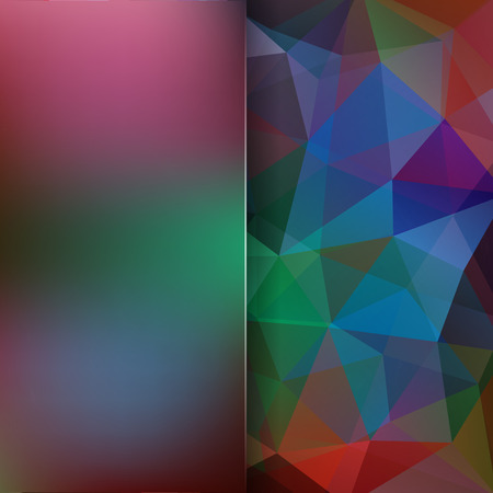 Abstract geometric style colorful background. Colorful business background Blur background with glass. Vector illustration
