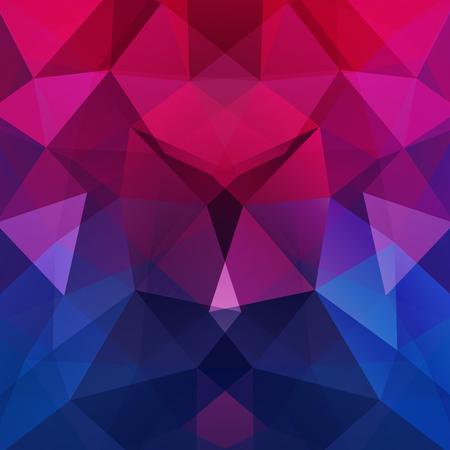 추상 모자이크 배경입니다. 삼각형 기하학적 배경입니다. 디자인 요소입니다. 벡터 일러스트 레이 션. 핑크, 퍼플, 블루 색상.