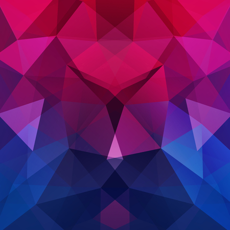 Abstract mosaic background. Triangle geometric background. Design elements. Vector illustration. Pink, purple, blue colors.