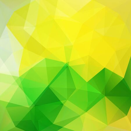 be green: Polygonal vector background. Can be used in cover design, book design, website background. Vector illustration. Yellow, green colors.