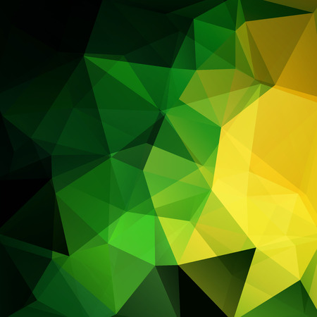 be green: Polygonal vector background. Can be used in cover design, book design, website background. Vector illustration. Green, black, yellow colors.