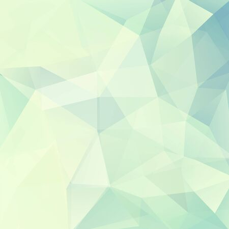 Geometric pattern, polygon triangles vector background in white, green and blue tones. Illustration pattern. Light background. Pastel background