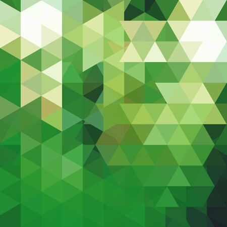 lea: Abstract mosaic background. Triangle geometric background. Design elements. Vector illustration. Green, white colors. Illustration