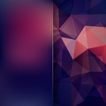 Abstract mosaic background. Blur background. Triangle geometric background. Design elements. Vector illustration. Purple, blue colors. Illustration