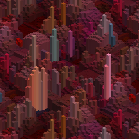 megapolis: Abstract cubes background for design. Vector EPS10. Brown color.