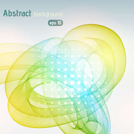 green swirl: Abstract colorful background with swirl waves. Abstract background design. Eps 10 vector illustration. Yellow, green, blue colors.