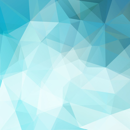 Abstract mosaic background. Triangle geometric background. Design elements. Vector illustration. Blue, white colors