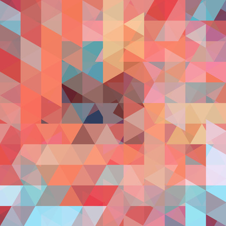 Abstract vector background with triangles. Colorful geometric vector illustration. Creative design template. Orange, brown, blue colors.