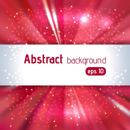 love blast: Vector illustration of abstract background with blurred magic light rays, vector illustration. Red, white colors.