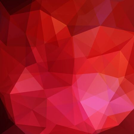 pink and brown: Background made of triangles. Square composition with geometric shapes. Red, pink, brown colors. Illustration