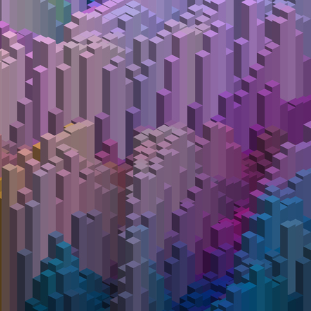 cubicle: Abstract background with cube decoration. Vector illustration. Pink, purple, blue colors.