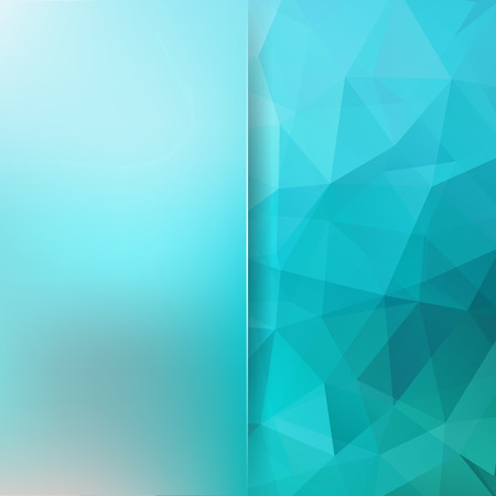matt: Blue low poly triangles background with blurred matt space for text. Blue color. Illustration