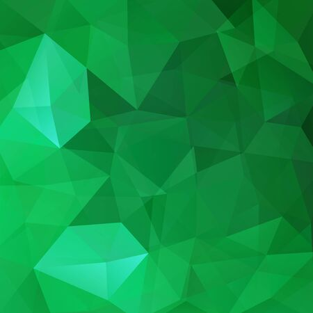double page: Polygonal vector background. Can be used in cover design, book design, website background. Vector illustration. Green color. Illustration