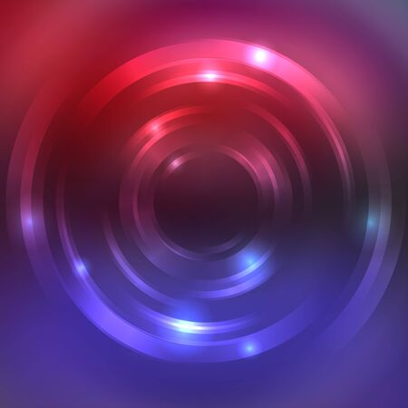 red swirl: Abstract colorful background, Shining circle tunnel. Elegant modern geometric wallpaper. Vector illustration. Red, blue, purple colors.