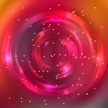 energy flow: Abstract circle background, Vector design. Glowing spiral. The energy flow tunnel. Pink, orange, red colors. Illustration