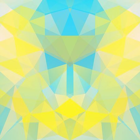 double page: Background made of triangles. Square composition with geometric shapes.