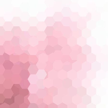 business flyer: Abstract background consisting of hexagons. Geometric design for business presentations or web template banner flyer. Vector illustration. Pink, white colors.