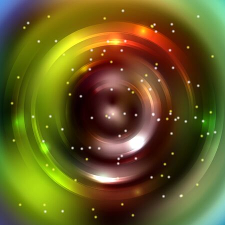 energy flow: Abstract circle background, Vector design. Glowing spiral. The energy flow tunnel. Brown, green colors. Illustration