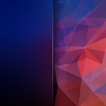Abstract mosaic background. Blur background. Triangle geometric background. Design elements. Vector illustration. Blue, pink, purple colors.