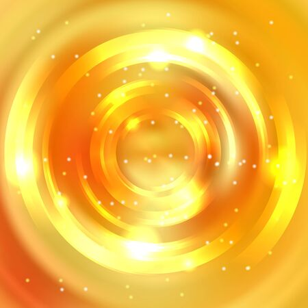 energy flow: Abstract circle background, Vector design. Glowing spiral. The energy flow tunnel. Yellow, orange colors Illustration
