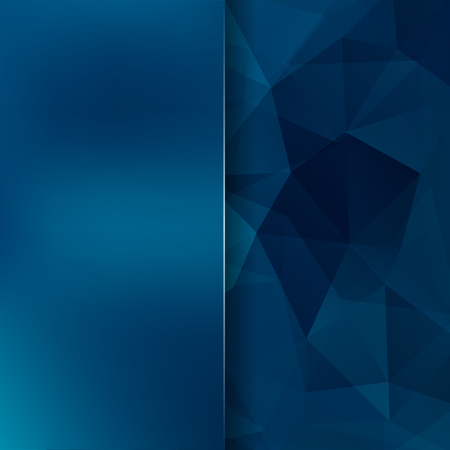 deep blue: Abstract background consisting of triangles. Vector illustration. Blue color.