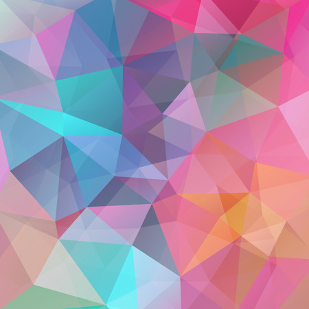 pastel color: abstract background consisting of triangles, vector illustration. Pastel pink, blue, orange colors.