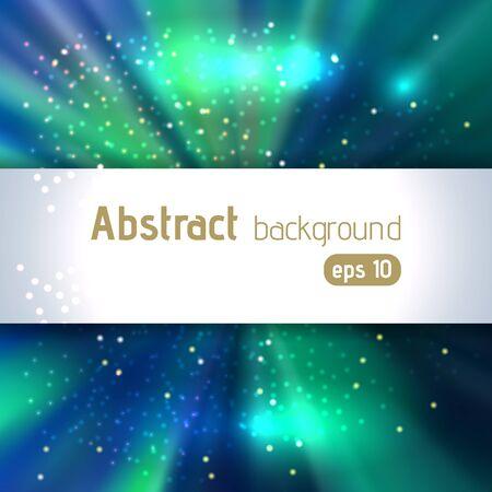 burst background: Beautiful rays of light. Shiny eps 10 background. Radial radiant effect. Vector illustration. Blue, green colors.