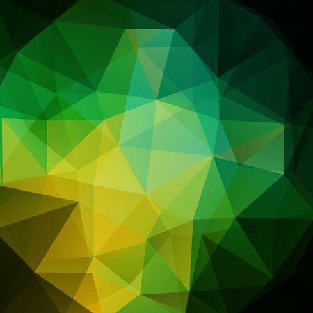 be green: Polygonal background. Can be used in cover, book design, website backdrop. Vector illustration. Green color.