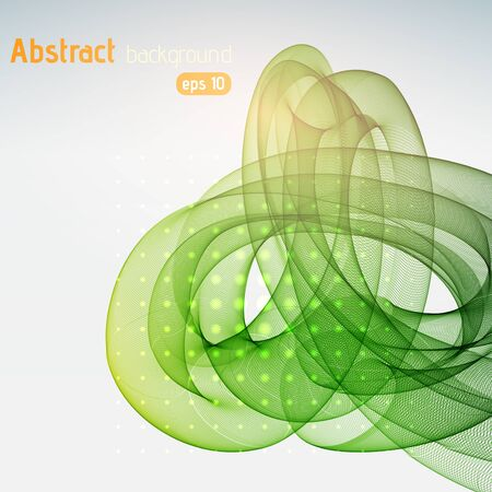 green swirl: Abstract green background with swirl waves. Abstract background design.
