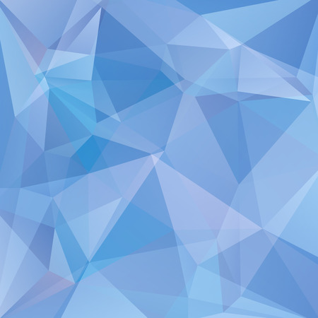 abstract background consisting of blue triangles, vector illustration