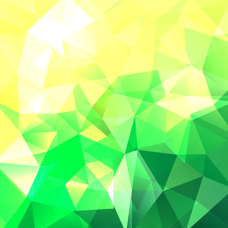 lea: abstract background consisting of yellow, green triangles, vector illustration Illustration