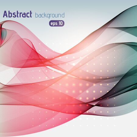 red swirl: Abstract background with swirl waves. Abstract background design. Eps 10 vector illustration. Pink, gray colors.