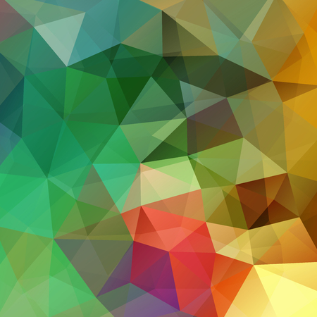 green and red: abstract background consisting of yellow, green, red triangles, vector illustration Illustration