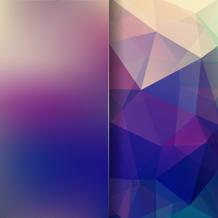 deep blue: Abstract background consisting of triangles. Geometric design for business presentations or web template banner flyer. Vector illustration. Blue color