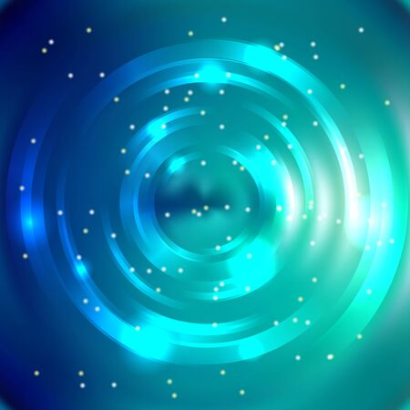 energy flow: Abstract circle background, Vector design. Glowing spiral. The energy flow tunnel. Blue, green colors.