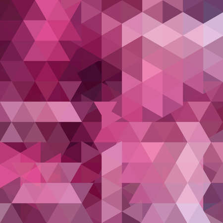 Background made of triangles. Square composition with geometric shapes. Eps 10 Pink, purple colors.