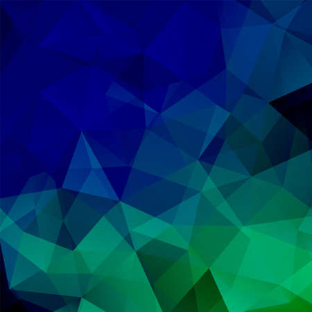abstract background consisting of green, blue triangles, vector illustration
