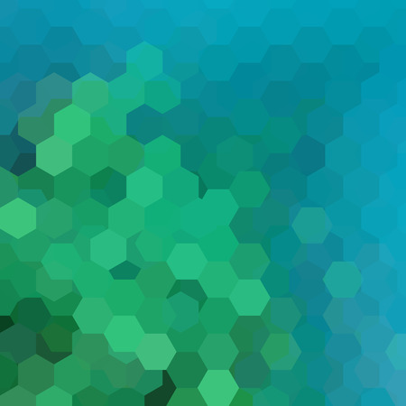 Abstract hexagons vector background. Blue, green geometric vector illustration. Creative design template.