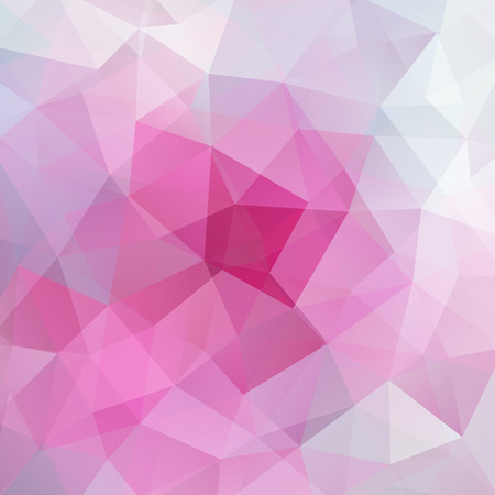 abstract background consisting of triangles, vector illustration. Pink color. Illustration