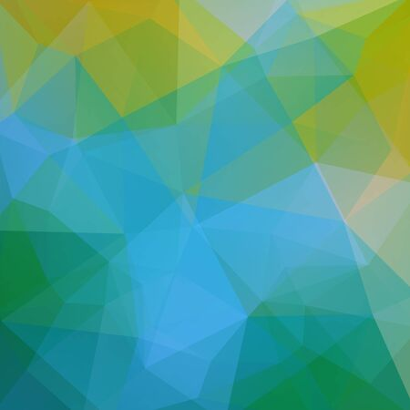 Polygonal vector background. Can be used in cover design, book, website. Vector illustration. Yellow, green, blue colors. Illustration