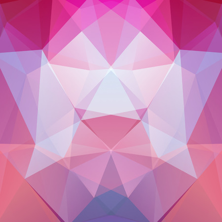 Background of geometric shapes. Colorful mosaic pattern. Vector EPS 10. Vector illustration. Pink color.